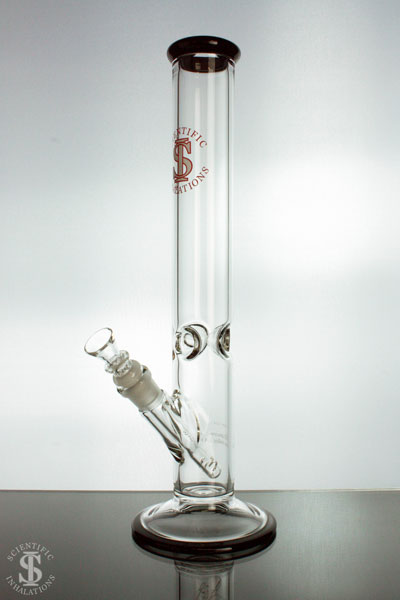 SIpipes-30-015B-15in-50mm-Glass-Straight-Pipe-wDownsteam-&-Bowl