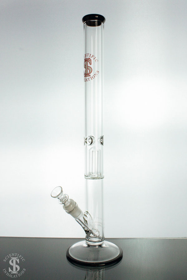 SIpipes-30-029B-18in-38mm-Glass-Straight-Pipe-wDownsteam-&-Bowl