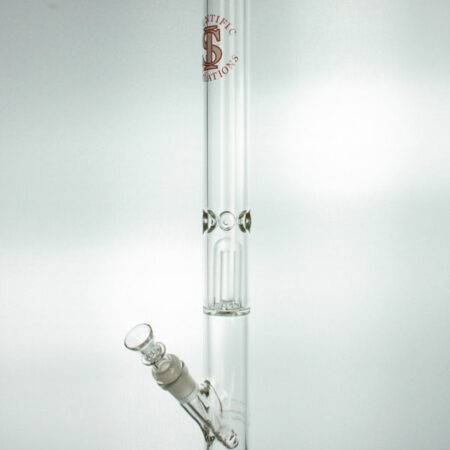 SIpipes-30-029C-18in-38mm-Glass-Straight-Pipe-wDownsteam-&-Bowl