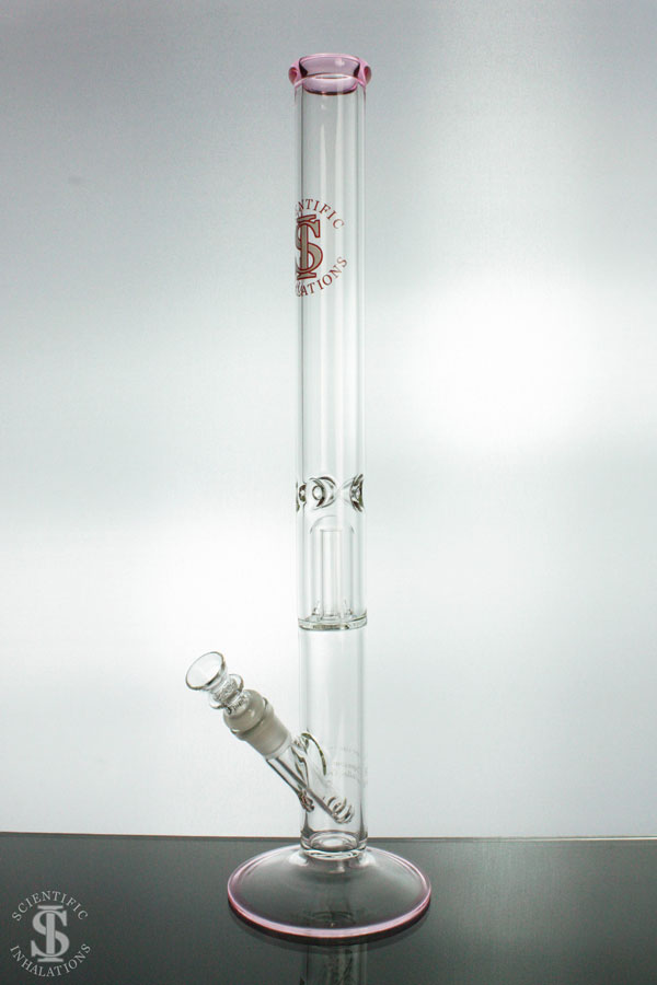 SIpipes-30-029P-18in-38mm-Glass-Straight-Pipe-wDownsteam-&-Bowl