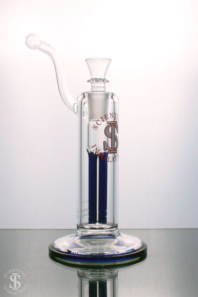 SIpipes-30-018BL-45mm-Bubbler-4-arm-Colored-Perk-Downstem